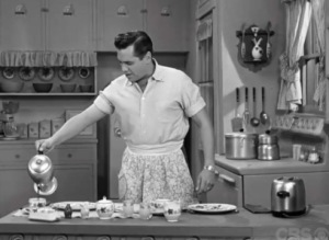 Ricky Ricardo was a 50's man who could cook and croon, and his wife didn't control his every move.