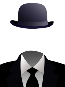 an illustration of a faceless man in a business suit